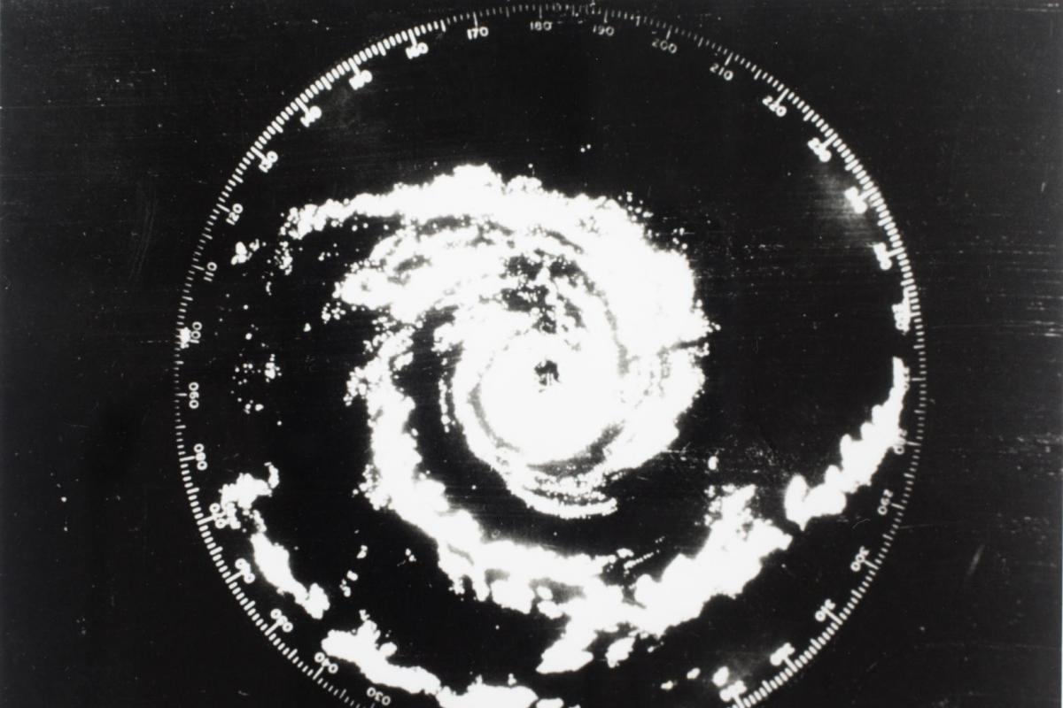 Radar image of cyclone forming