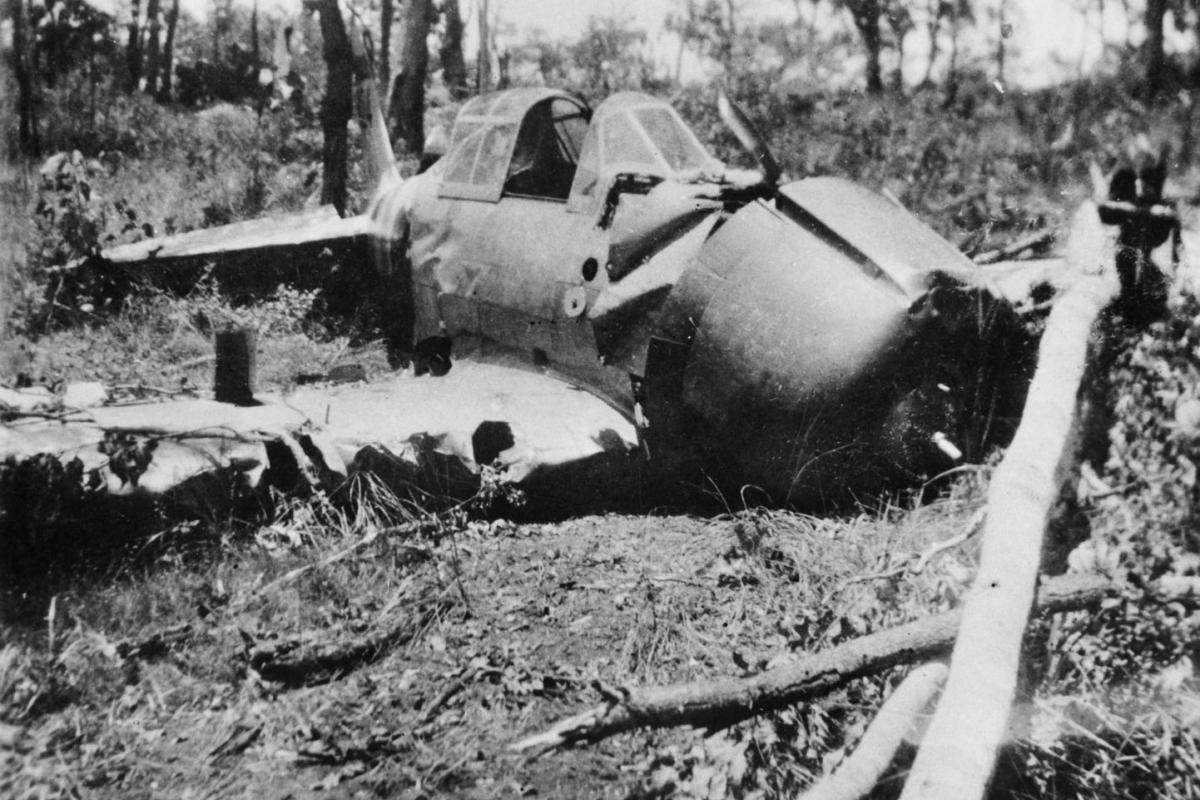Japanese Mitsubishi Zero B11-1 aircraft crashed in bushland on Melville Island
