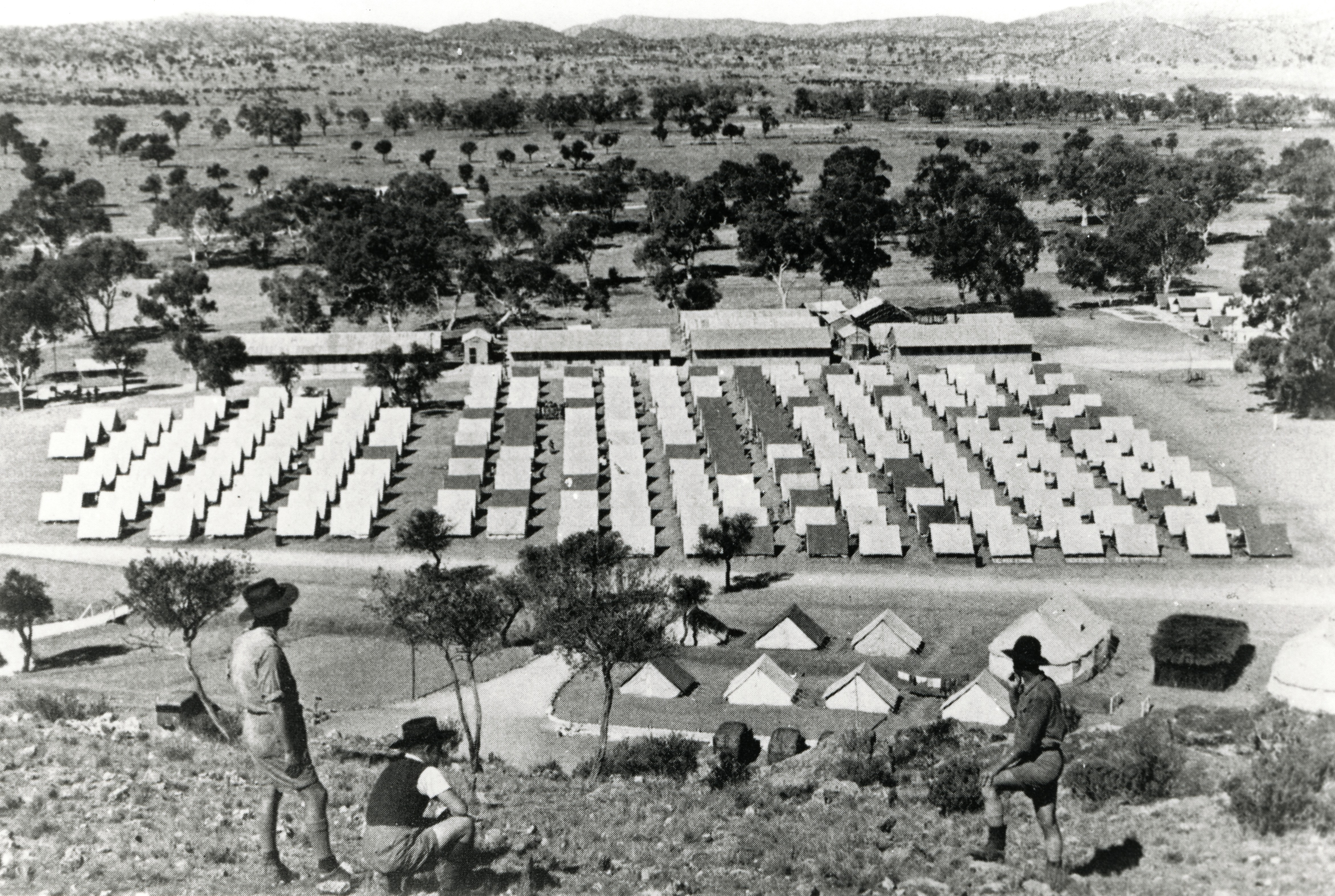 Army tents in Alice Springs