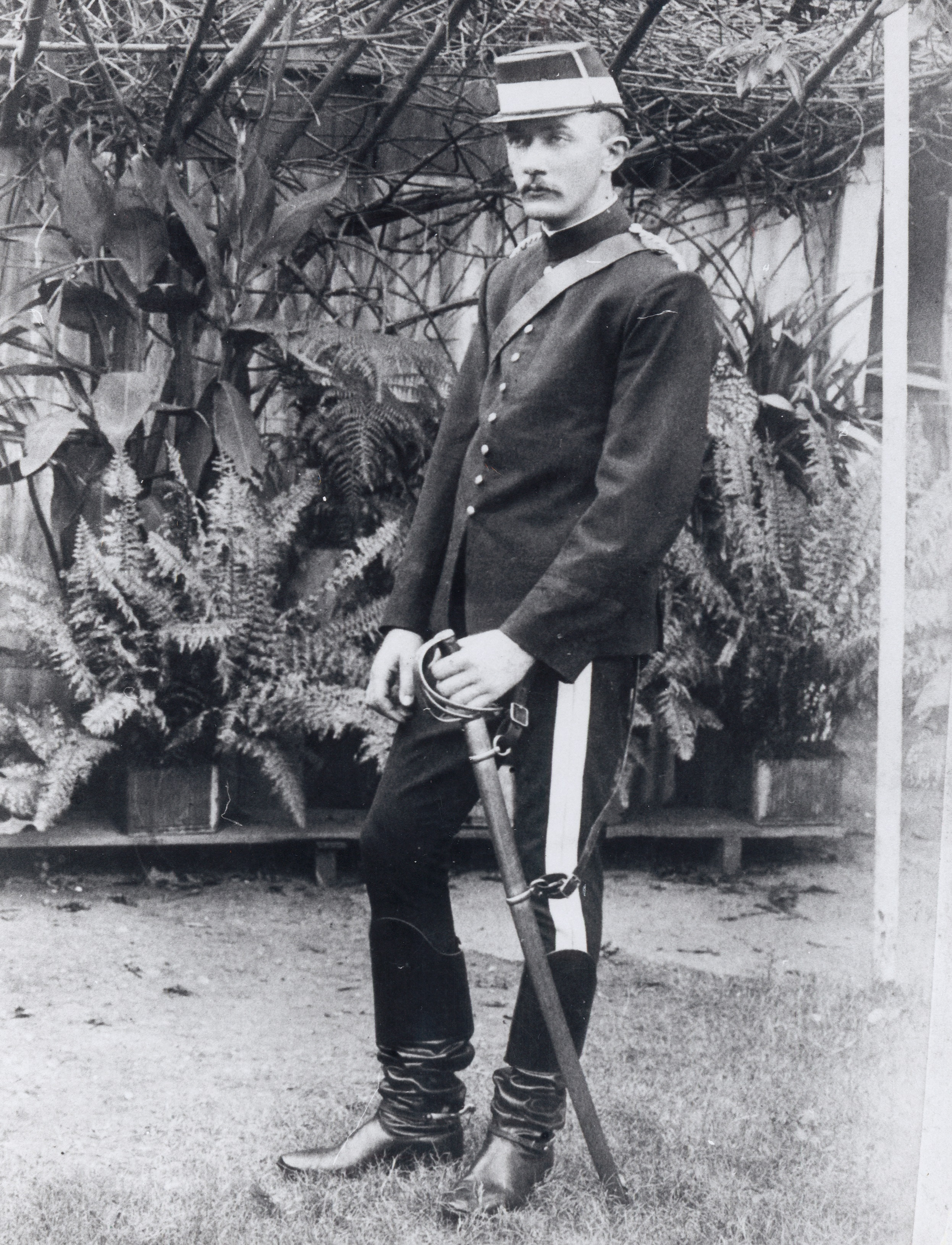 Standing portrait of Constable Johns wearing dress uniform