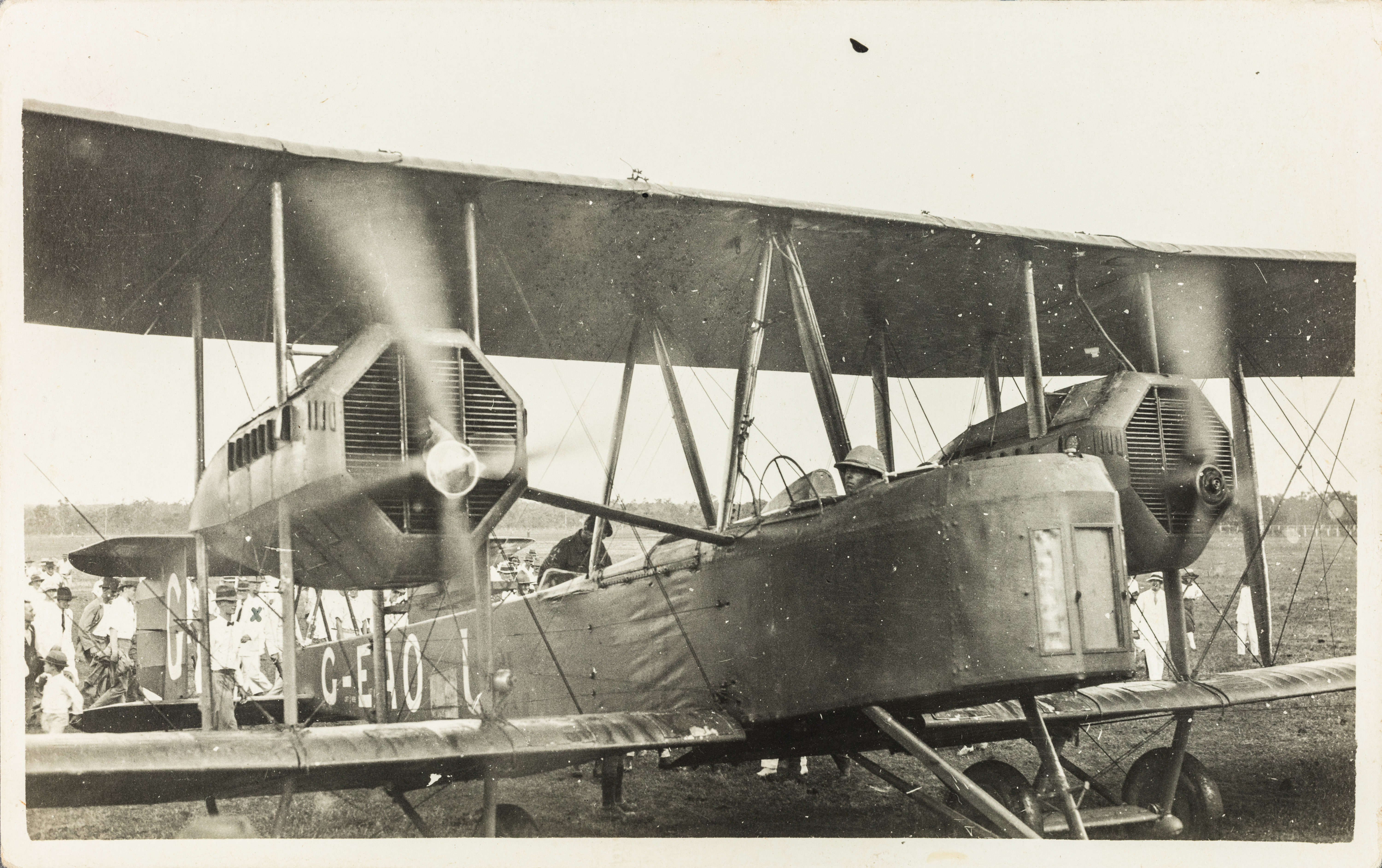 The engines of the Vickers Vimy flown by the Smith Brothers and their crew in the Great Air Race of 1919.