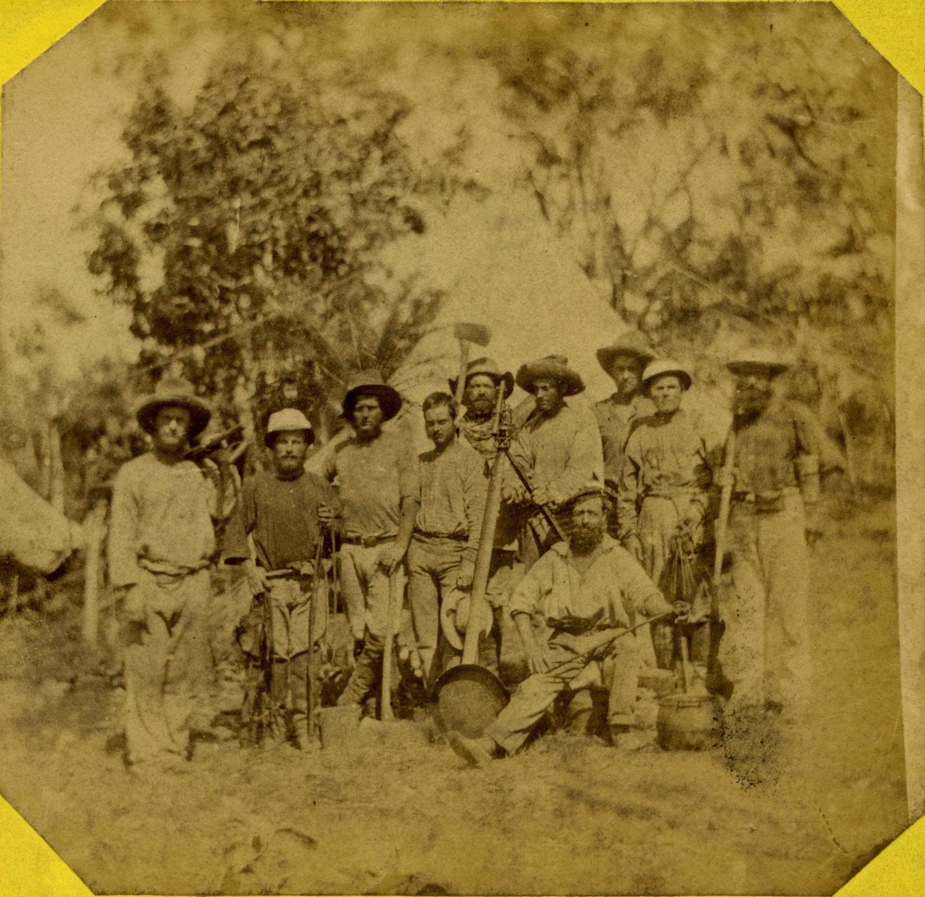 Members of the Northern Territory Surveying Expedition, 1869.