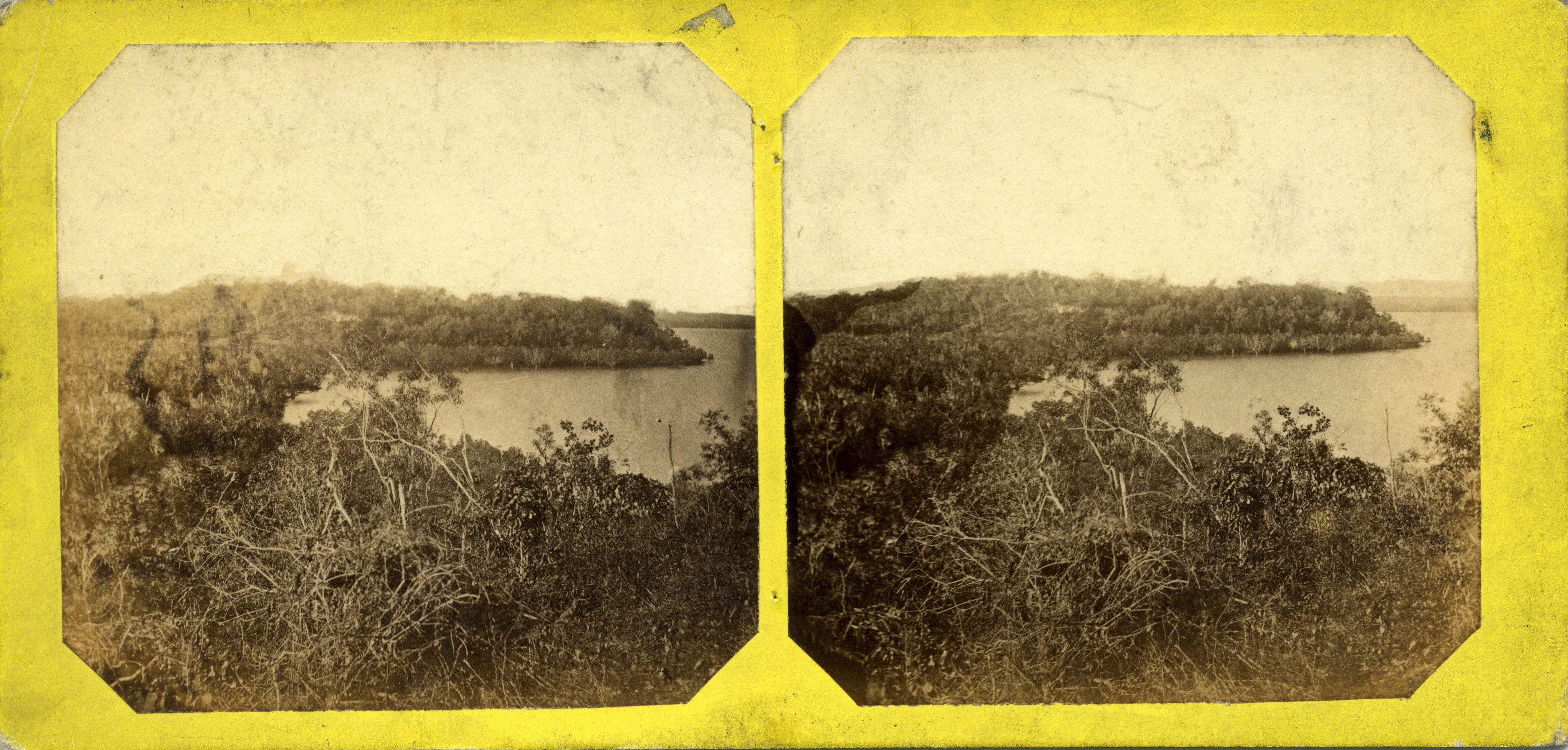 Stereoscopic image of Frances Bay, Port Darwin, 1868
