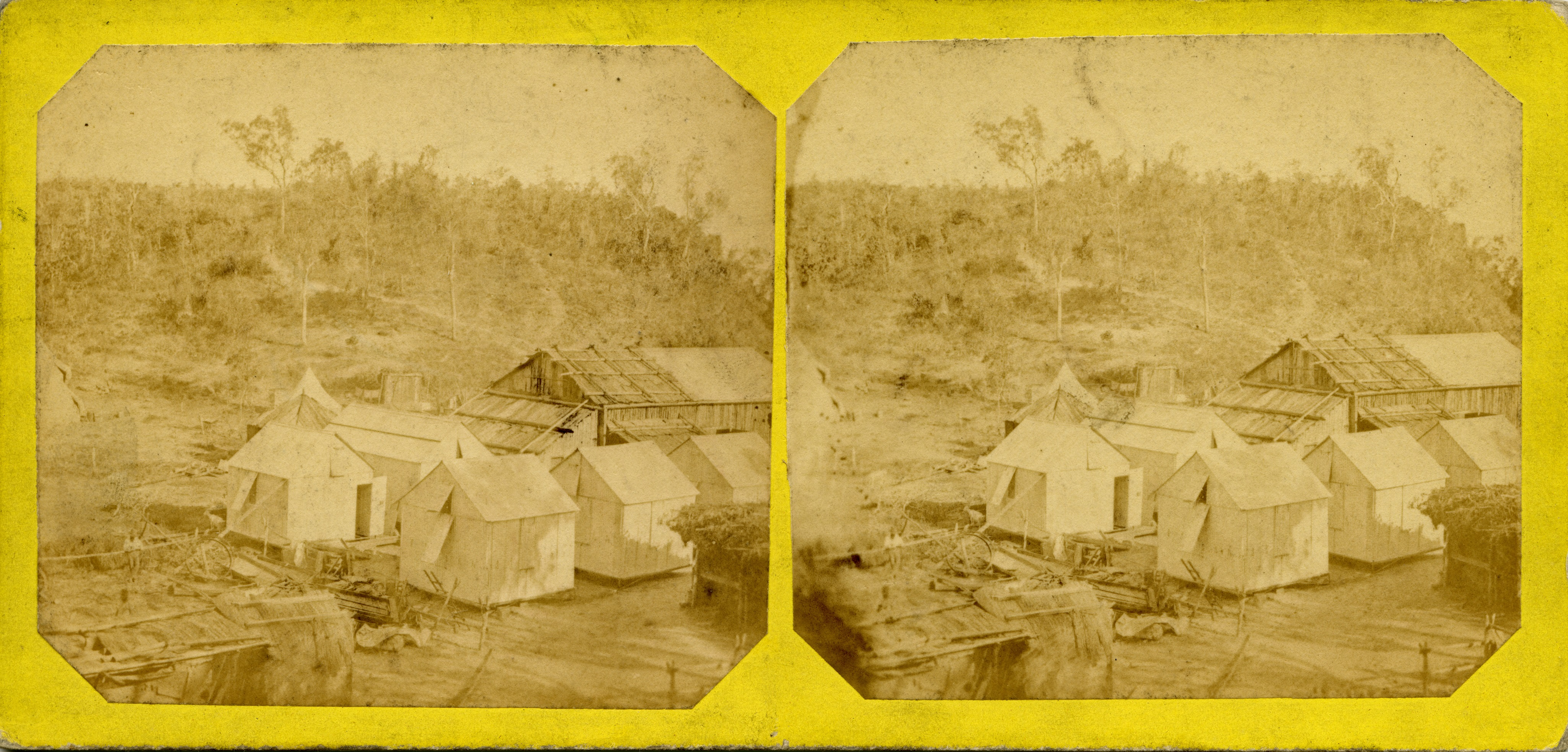 Stereoscopic image of Main Camp, 1869