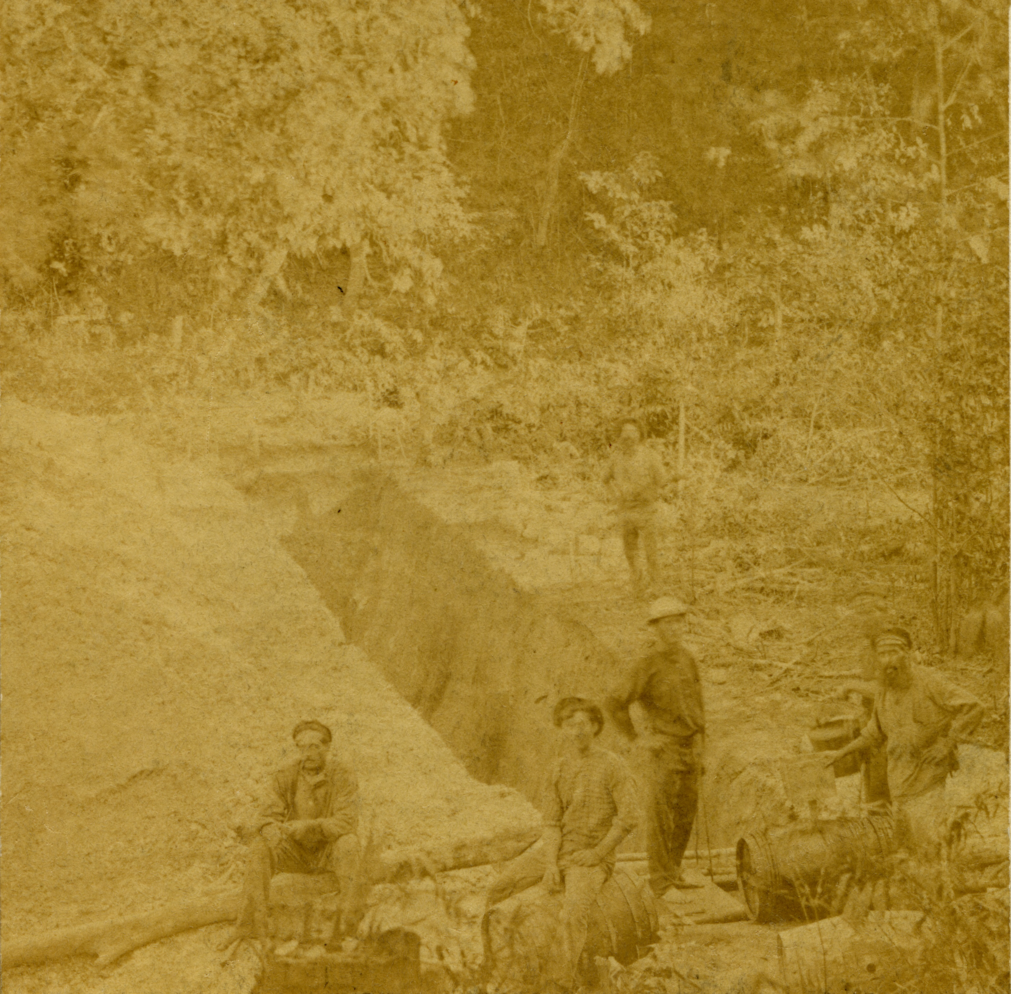 Doctor's Gully cutting for water, 1869