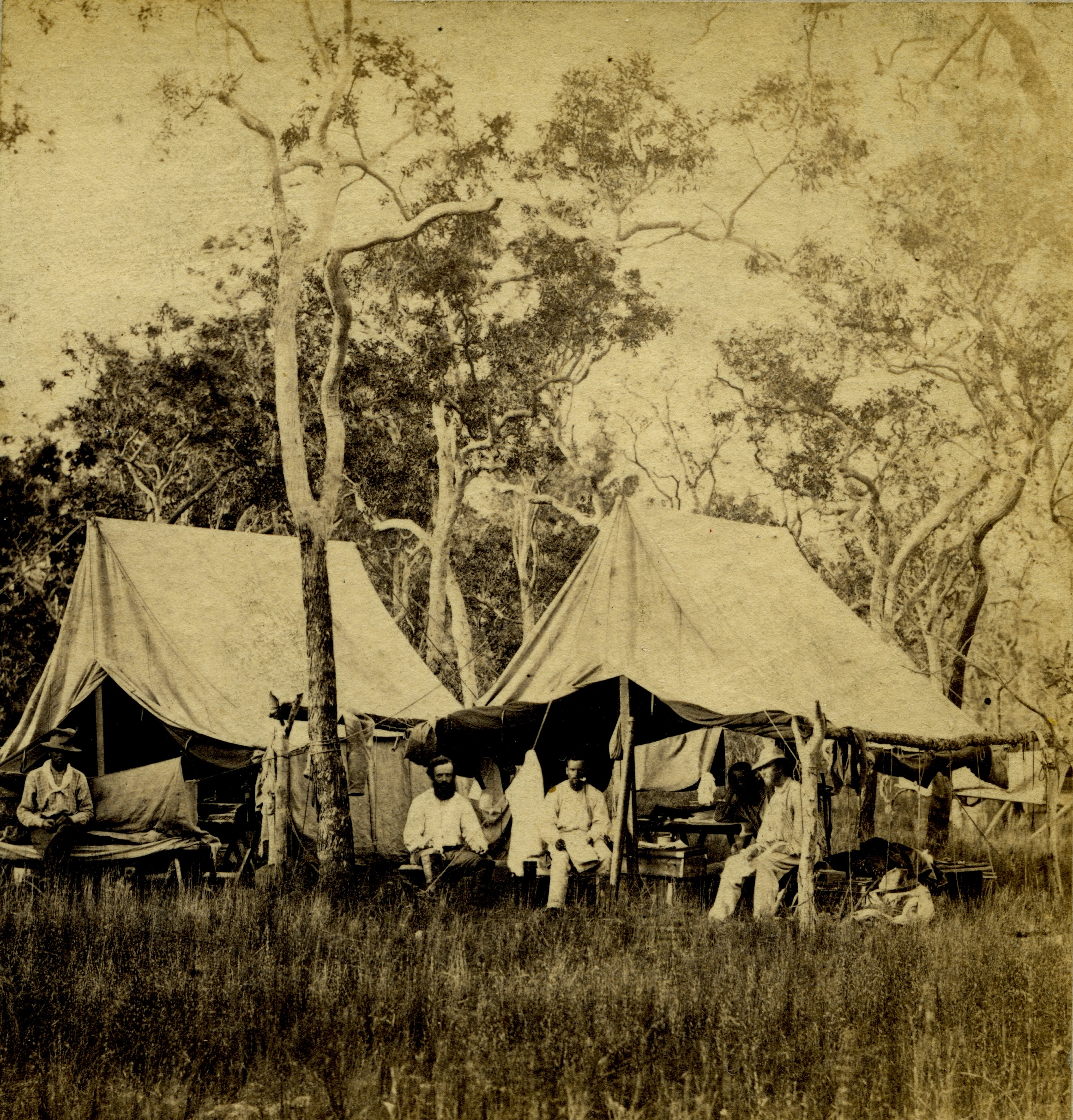 Mr. McLachlan's camp at the three wells, 1869